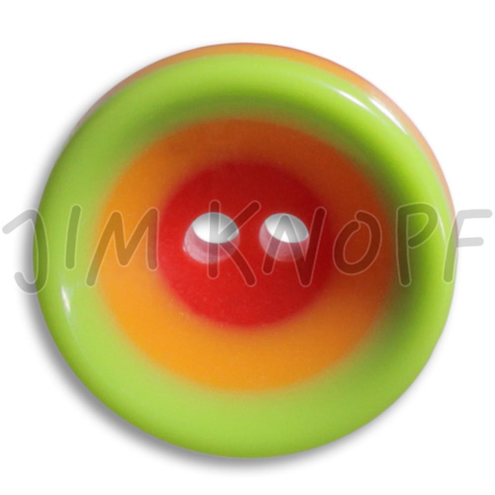 Jim Knopf Colorful plastic button circles 16mm Grün Orange Rot
