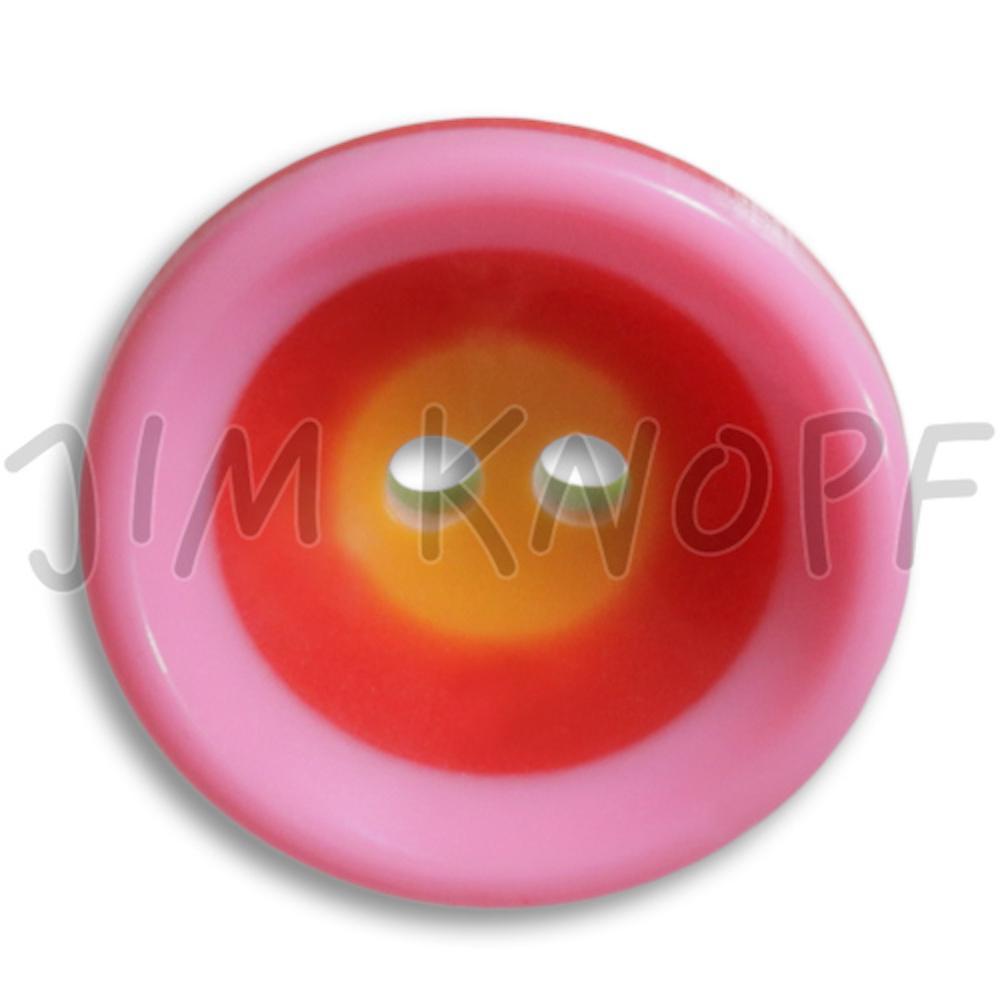 Jim Knopf Colorful plastic button circles 16mm Pink Rot Orange