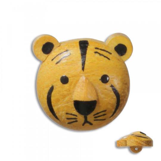 Jim Knopf Wood button tiger 17mm