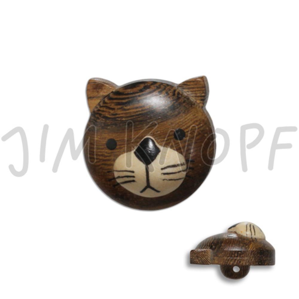 Jim Knopf Wood button cat 20mm  Katze