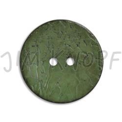 Jim Knopf Cocosknopf flach gefärbt 23mm Grün