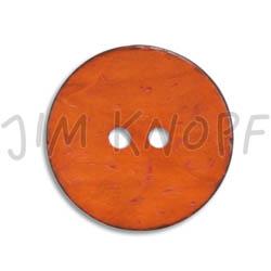 Jim Knopf Cocosknopf flach gefärbt 23mm Orange