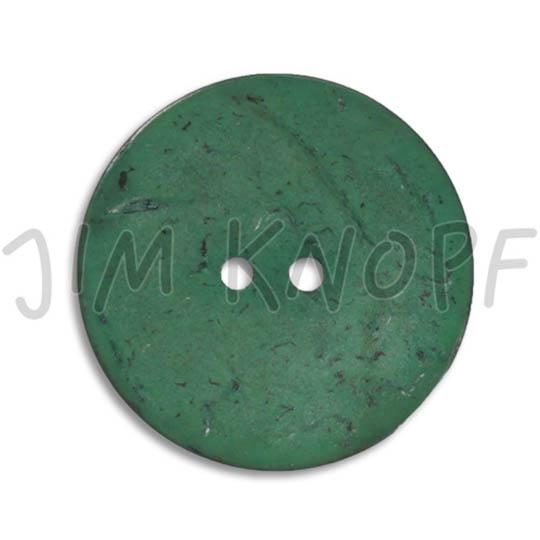 Jim Knopf Coco wood button flat 18mm Grün