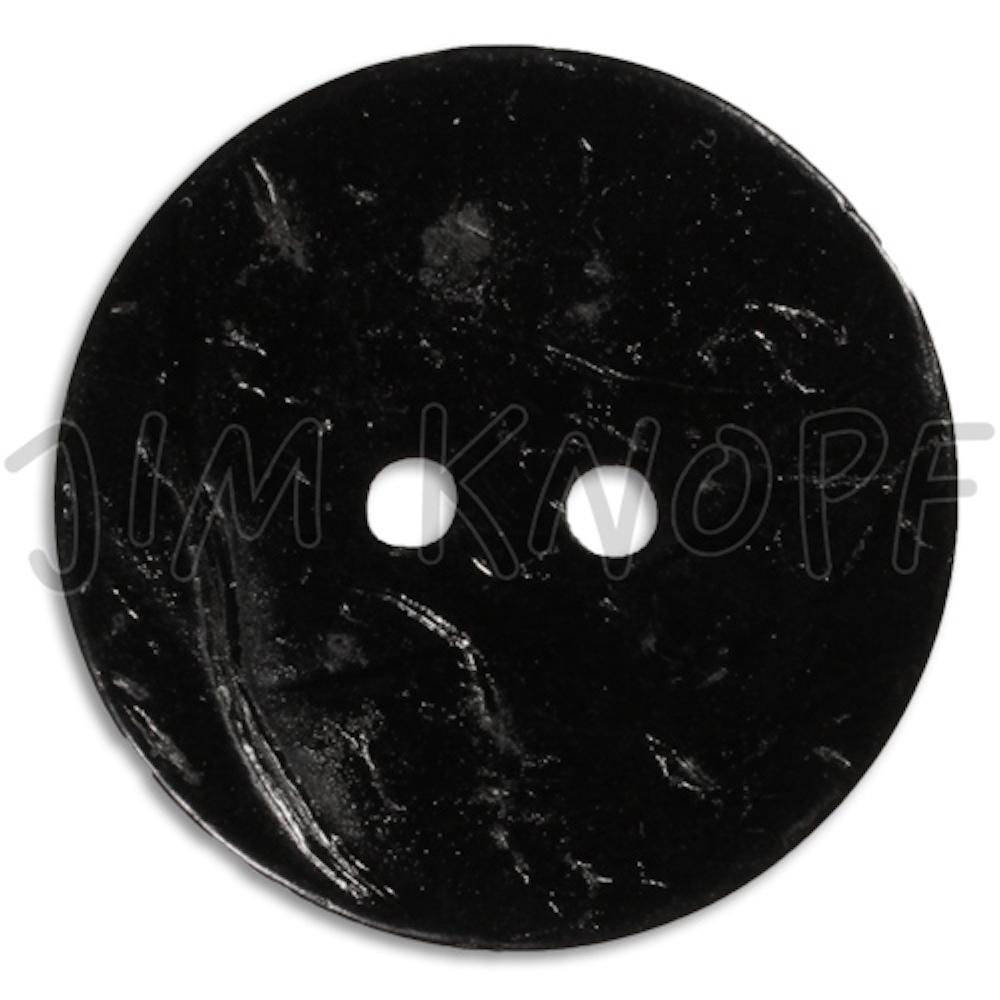 Jim Knopf Coco wood button flat 40mm Schwarz