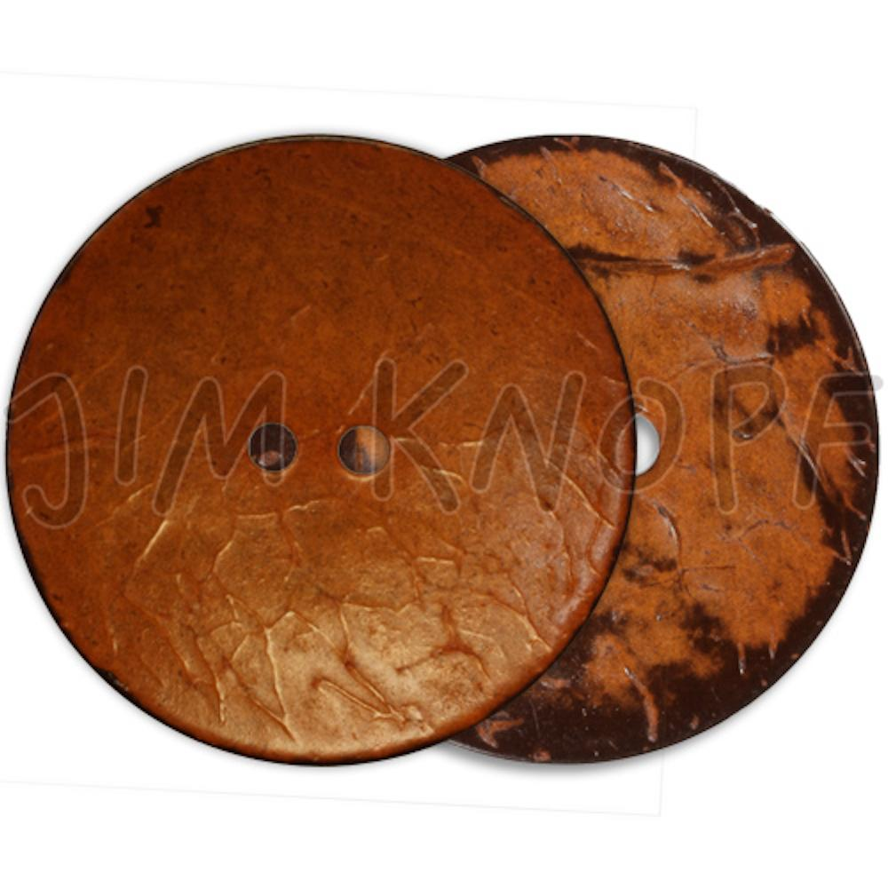 Jim Knopf Coco wood button flat 40mm Orange