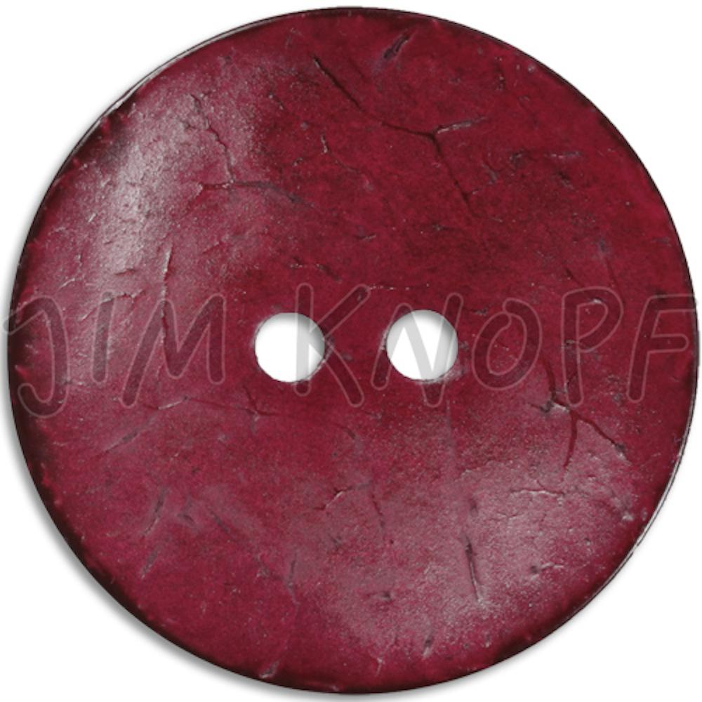 Jim Knopf Coco wood button flat 40mm Bordeaux