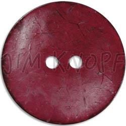 Jim Knopf Cocos button flat 50mm Bordeaux