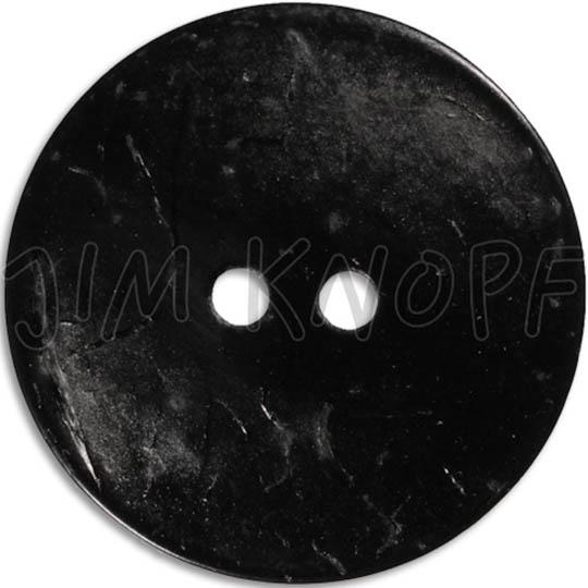 Jim Knopf Cocos button flat 50mm Schwarz