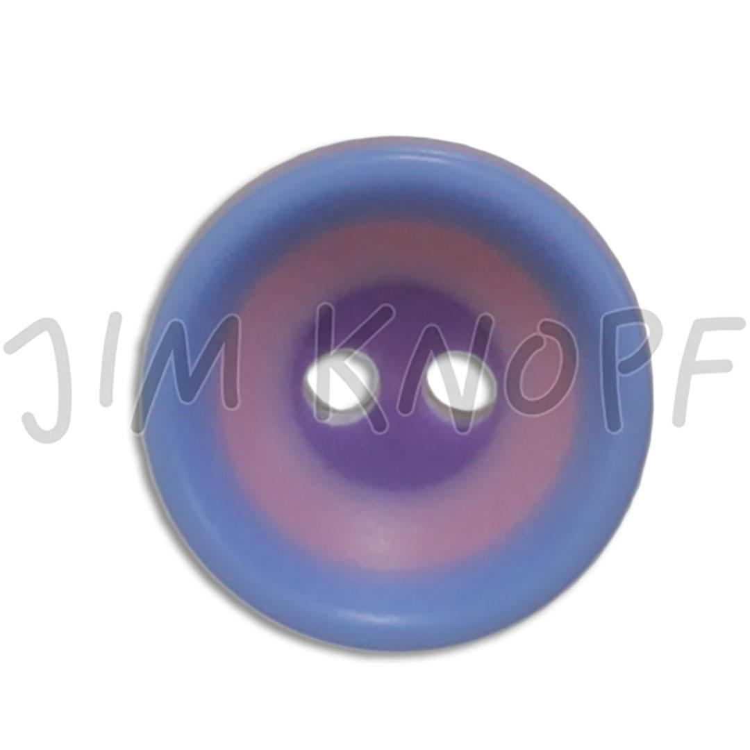 Jim Knopf Colorful plastic button circles 13mm  Hellblau Lila