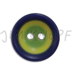 Jim Knopf Colorful plastic button circles 13mm Blau Gelb