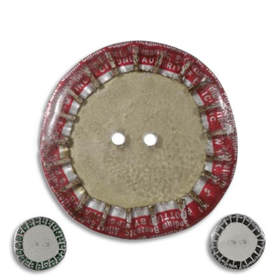 Jim Knopf Button from recycled crown cap 28mm
