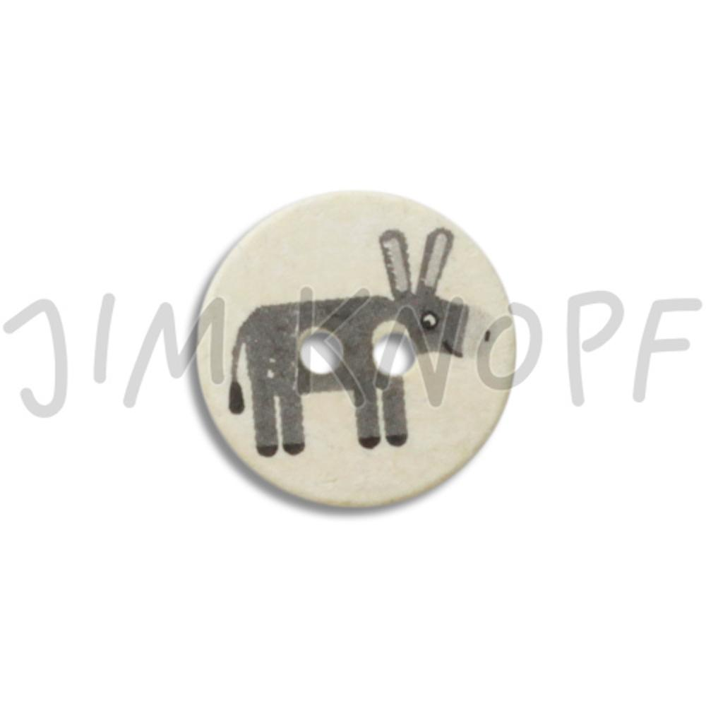 Jim Knopf Cute plastic button with donkey 16mm  Esel