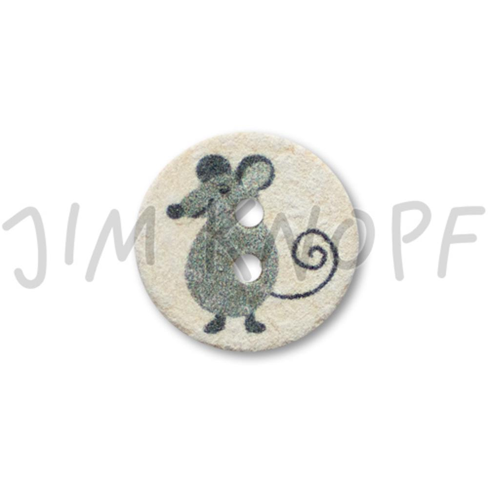 Jim Knopf Cute plastic button with donkey 16mm Maus