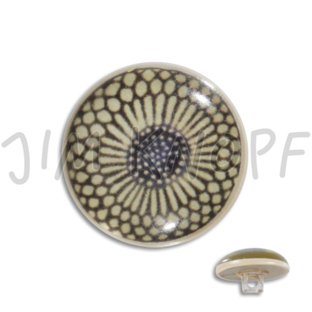 Jim Knopf Resin button flower motiv 18mm Ecru