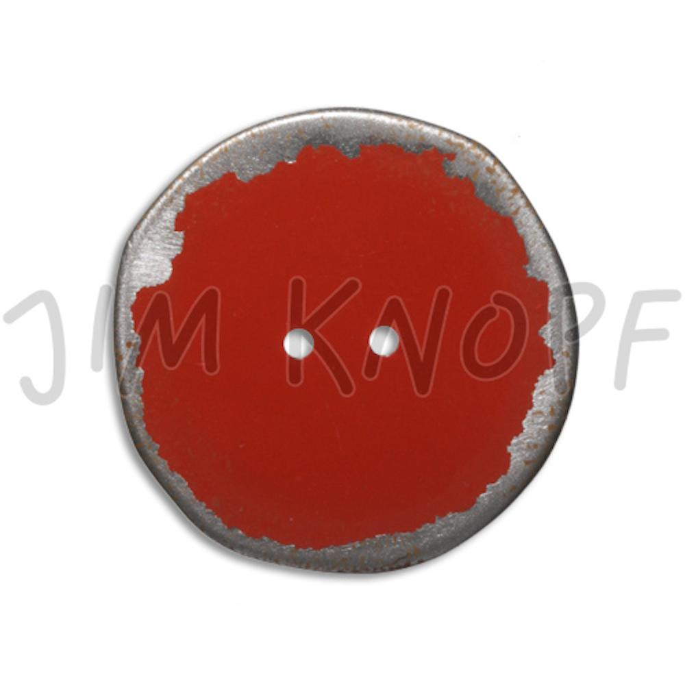 Jim Knopf Button from recycled crown cap used look 30mm Rot