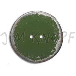Jim Knopf Button from recycled crown cap used look 30mm Grün