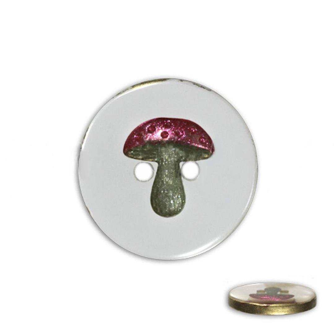 Jim Knopf Resin button with mushroom different sizes