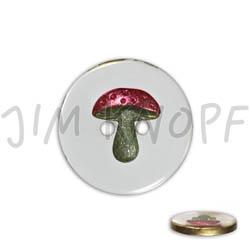 Jim Knopf Resin button with mushroom different sizes Transparenter Grund