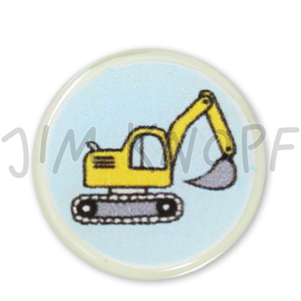Jim Knopf Resin button for children 18mm Bagger