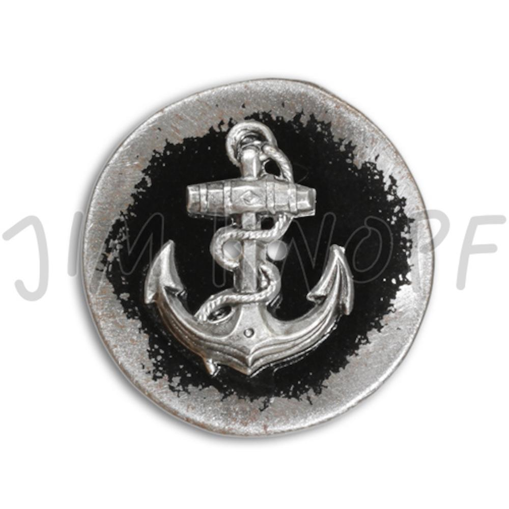 Jim Knopf Button from recycled crown cap 26mm  Schwarz