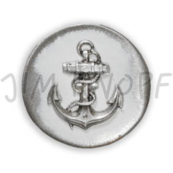 Jim Knopf Button from recycled crown cap 26mm Weiss