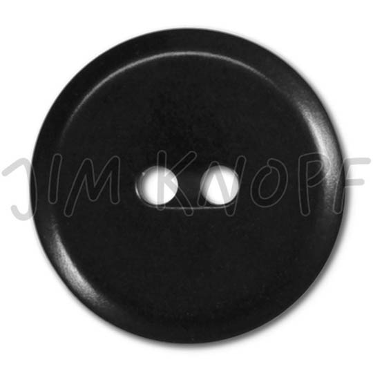 Jim Knopf Colorful buttons made from ivory nut 25mm Schwarz