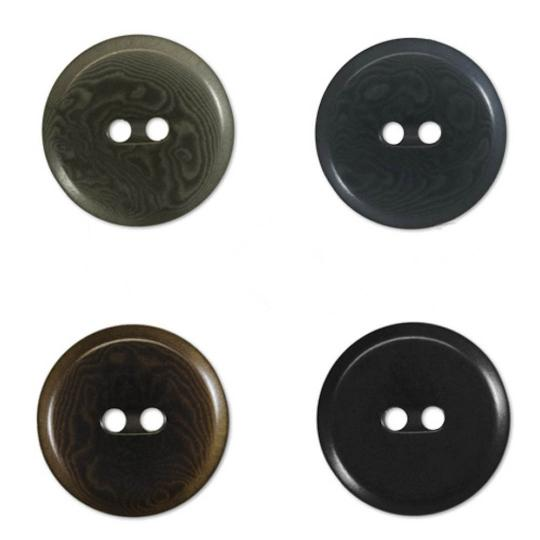 Jim Knopf Colorful buttons made from ivory nut 25mm