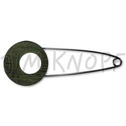 Jim Knopf Horn Needle 106mm Patina grün
