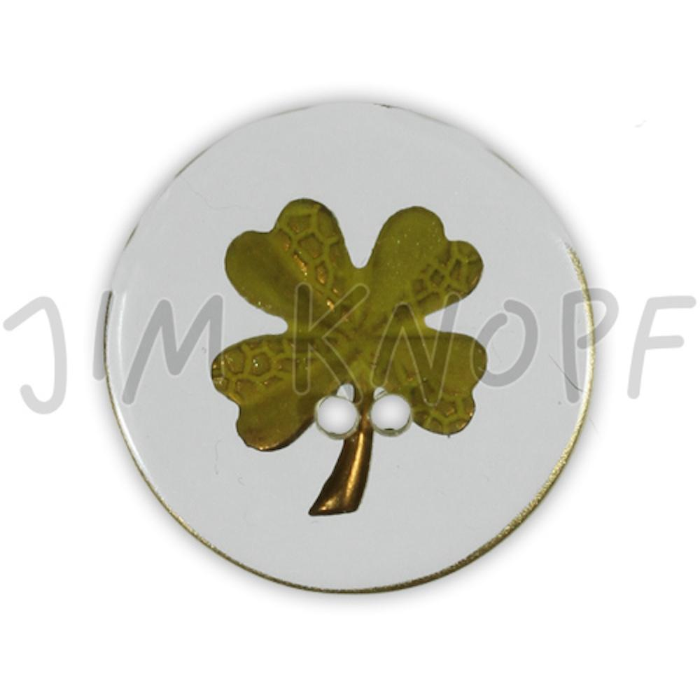 Jim Knopf Resin button flower motiv 18mm Hellgrün auf Transparent
