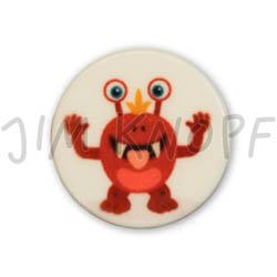 Jim Knopf Colorful plastic button space motiv 18mm Monster Rettich