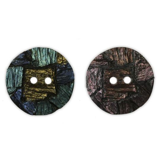 Jim Knopf Resin button with interesting texture