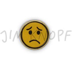 Jim Knopf Coco wood button smiley motiv 16mm Traurig