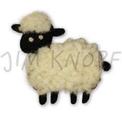 Jim Knopf Felted sheep motivs Susa