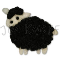 Jim Knopf Felted sheep motivs Nero