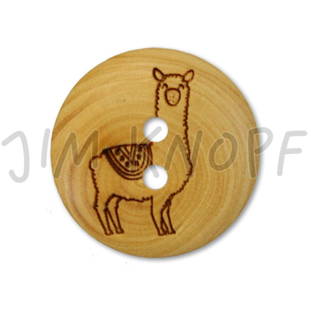 Jim Knopf Wood button llama 18mm Lama
