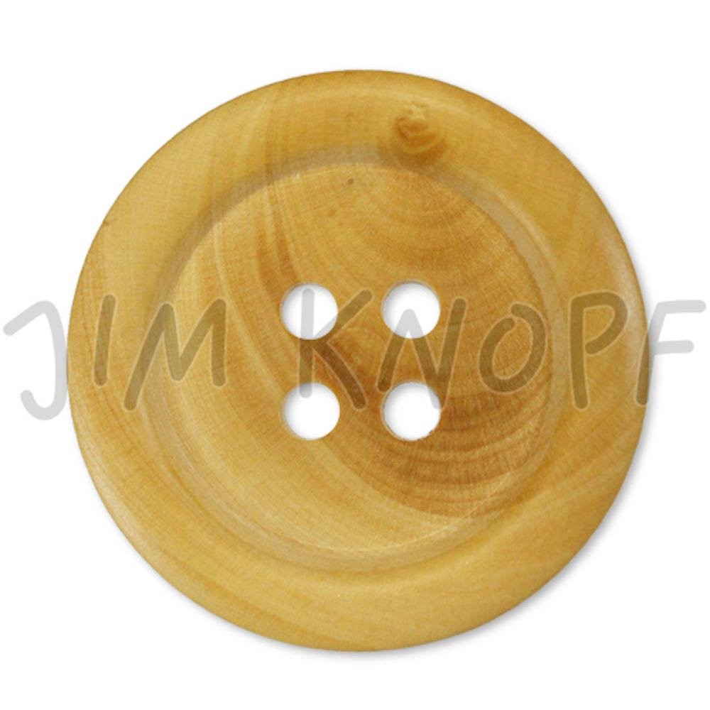 Jim Knopf Wood button natural color in several sizes Natur