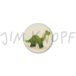 Jim Knopf Cute plastic button with dino 16mm Dino