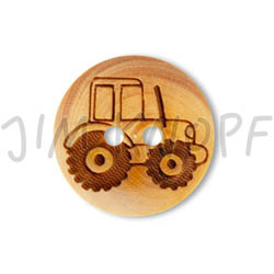 Jim Knopf Wood button mouse or rabbit 32mm Traktor