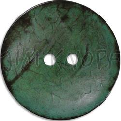 Jim Knopf Coco wood button flat 40mm Grün