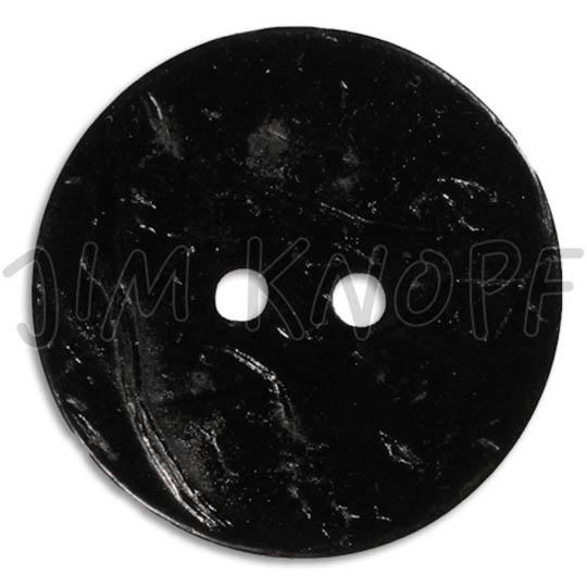 Jim Knopf Coco wood button flat 40mm Schwarz
