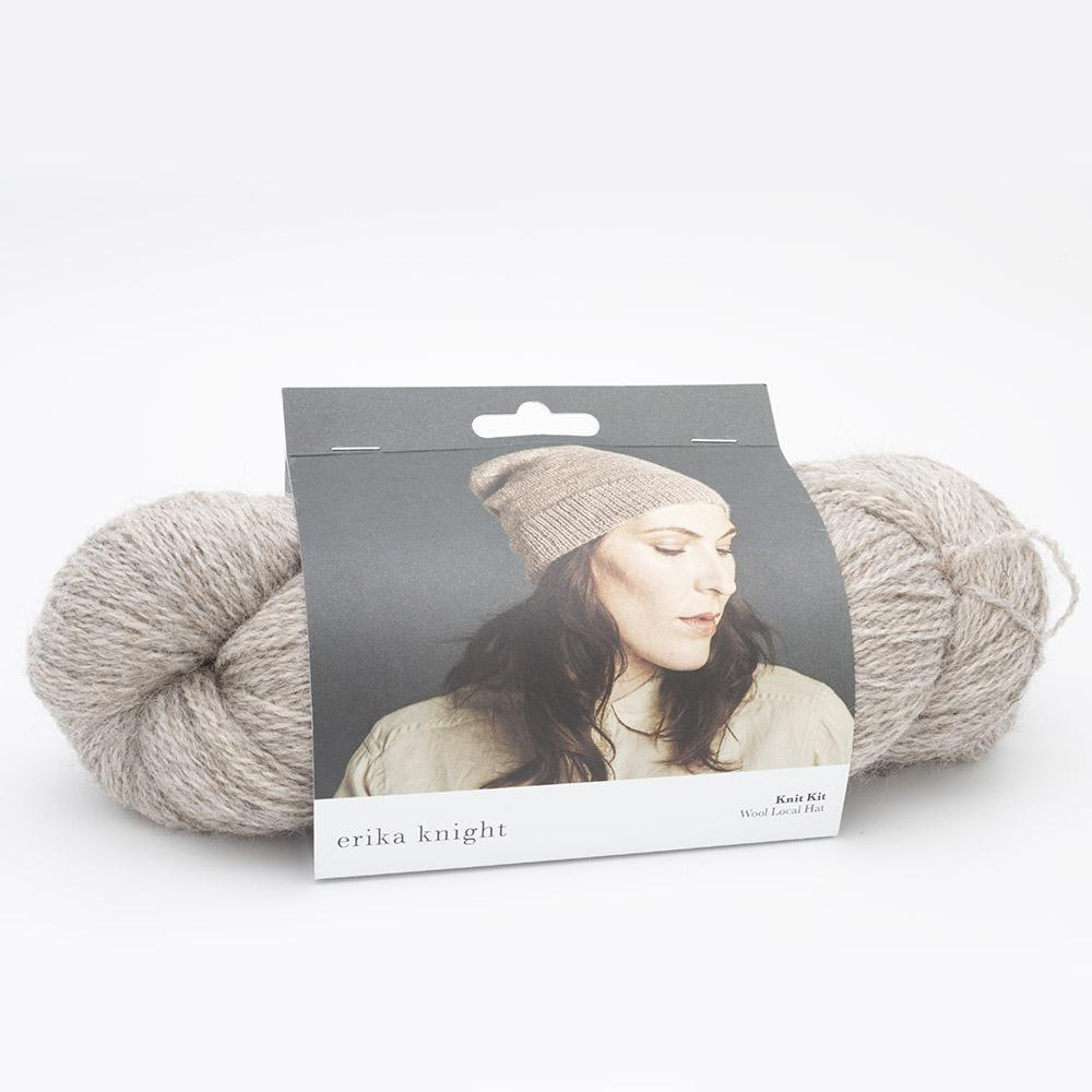 Erika Knight Knit Kits Wool Local Hat with pattern sleeves
