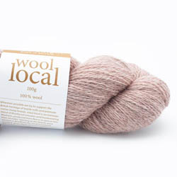 Erika Knight Knit Kits Wool Local Hat with pattern sleeves Rosedale Pale Pink Deutsch