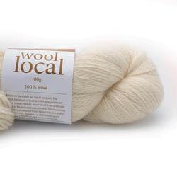 Erika Knight Knit Kits Wool Local Hat with pattern sleeves Fairfax Ecru English