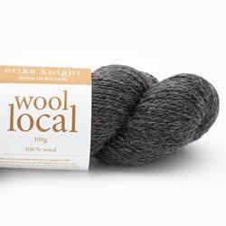 Erika Knight Knit Kits Wool Local Hat with pattern sleeves Cathy Dark Grey Deutsch