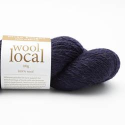 Erika Knight Knit Kits Wool Local Hat with pattern sleeves Bingley Navy Deutsch