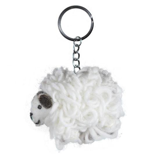 Jim Knopf Felted keyring sheep