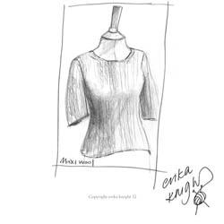 Erika Knight Trykte opskrifter til Maxi Wool discontinued designs Simple Short Sleeve Sweater Englisch