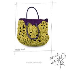 Erika Knight Trykte opskrifter til Maxi Wool discontinued designs Crochet Lace Bag Englisch
