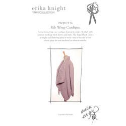 Erika Knight Trykte opskrifter til Maxi Wool discontinued designs 26 Rib Wrap Cardigan English