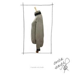Erika Knight Trykte opskrifter til Maxi Wool discontinued designs 29 Classic Roll Neck Sweater